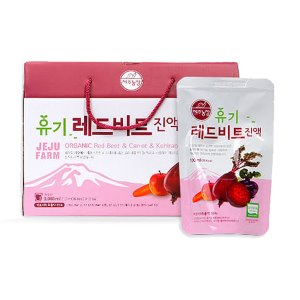 Jeju Farm Organic Red Beet Juice 100ml × 30 Pouches