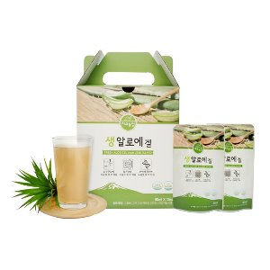 Jeju Farm Raw Aloe Gel Pouch 80ml x 12 Pouches